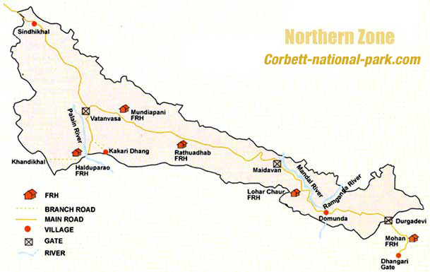 Northern Zone Map Corbett