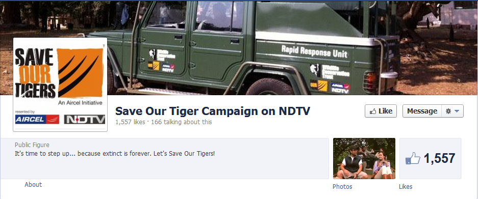 Save Our Tiger Campaign on NDTV