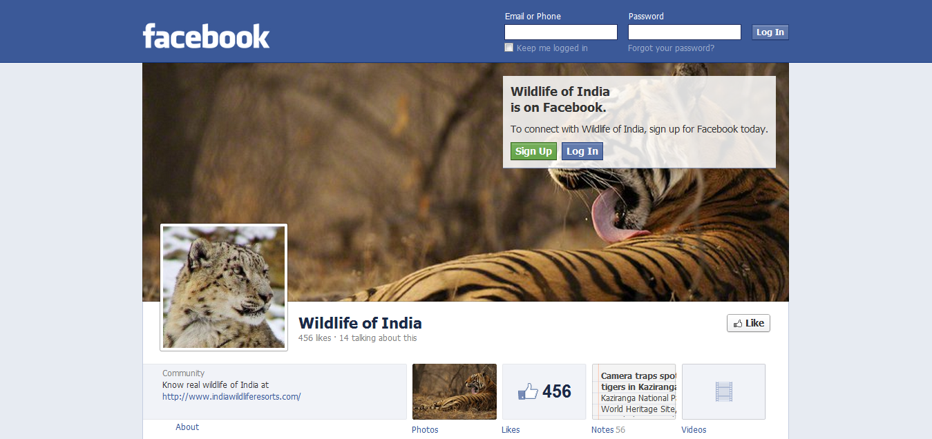 Wildlife of India Facebook Page