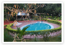 Pool at Hotel Leela Vilas