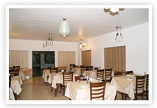 Dining hall of Corbett Leela Vilas